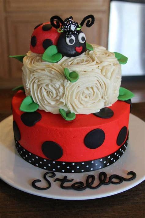 ladybug birthday cakes ideas  pinterest