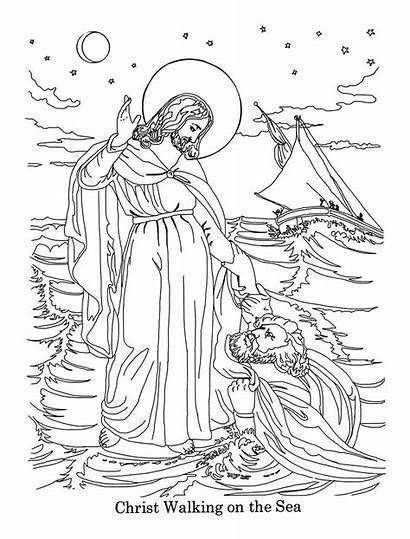 Bible Coloring Printable Jesus Jezus Colorear Dibujos