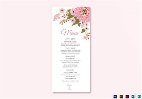 sample menu card    psd  word
