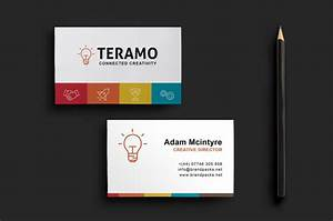 clean and professional double sided business card template With double sided business card template photoshop