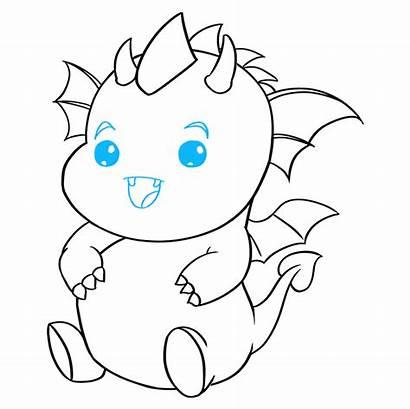 Dragon Kawaii Draw Tutorial Drawing Easy Eye