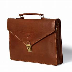 The lorenzo slim small leather briefcase for men and women for Letter briefcase