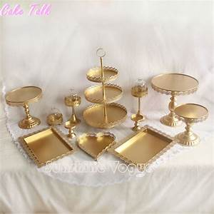 Set of 12 pieces gold cake stand wedding cupcake stand set