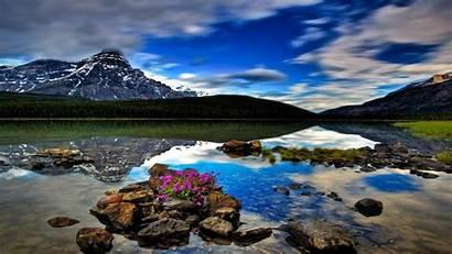 Banff Alberta Canada National Park Lake Waterfowl