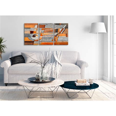 Set of 2 wall decals, removable wall stickers, wall decor. 3 Piece Burnt Orange Grey Painting Office Canvas Wall Art Decor - Abstract 3405 - 126cm Set of ...