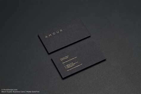 black business cards rockdesign luxury business card