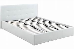 Lit But 160x200 : lit coffre capitonn avec sommier blanc 160x200 elyni design sur sofactory ~ Teatrodelosmanantiales.com Idées de Décoration
