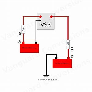 Split Charge Relay Kit 12v Durite 140amp Kit