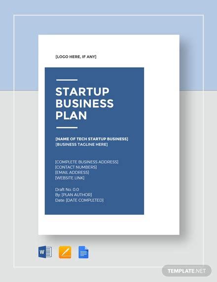 tech startup business plan template word  google