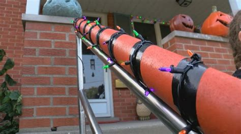 halloween candy safe pandemic chute during father daughter keep