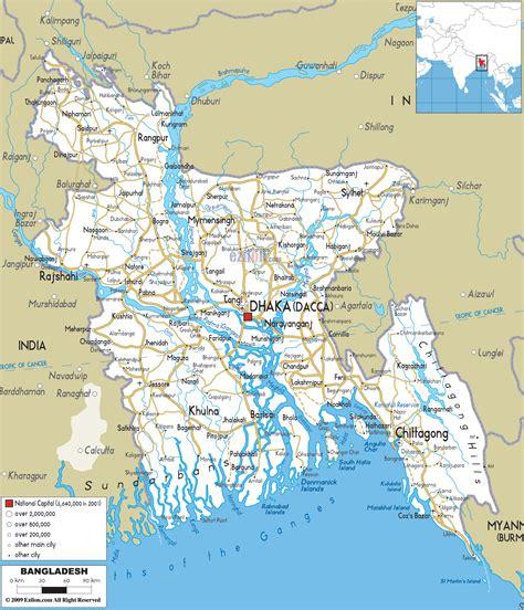 road map  bangladesh ezilon maps