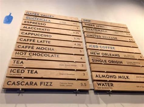 Menu   Picture of Blue Bottle Coffee, New York City