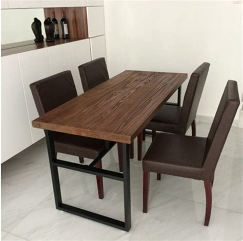 conference table desk combination retro fashion wrought iron wood tables and chairs