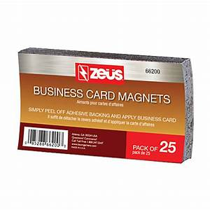 Baumgartens business card magnets 2 x 3 12 black pack of for Business card office depot