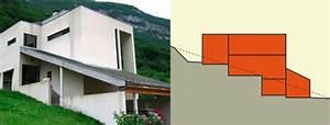 construire votre maison sur un terrain en pente With delightful plan maison en pente 2 exemples de plans de maisons en corse