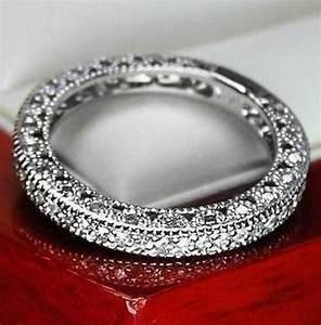 Unique Vintage Genuine Diamond Wedding Band Ring For Women ...