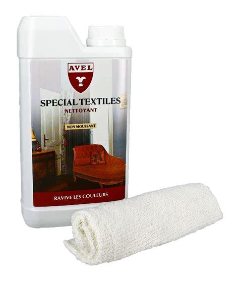 nettoyant textile canapé lait nettoyant textiles avel
