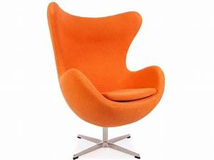 Fauteuil egg arne jacobsen orange for Fauteuil design orange
