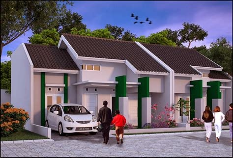 denah   gambar rumah tipe  minimalis modern