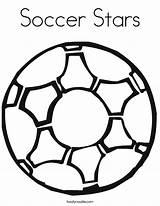 Soccer Coloring Ball Stars Balls Printable Boys Drawing Logos Sport Let Play Twistynoodle sketch template