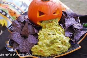 Pumpkin Puking Guacamole by Food Halloween Food Ideas