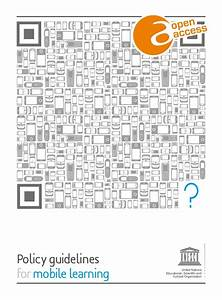 Unesco Policy Guidelines for Mobile Learning