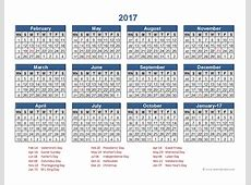 2017 Retail Accounting Calendar 445 Free Printable
