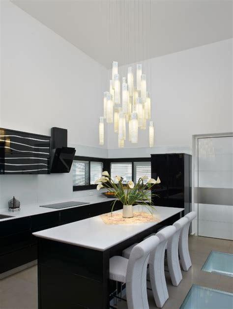 tanzania chandelier contemporary kitchen  york