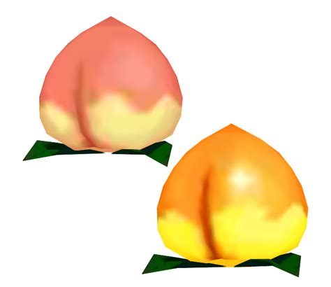 ds animal crossing  leaf peaches  models