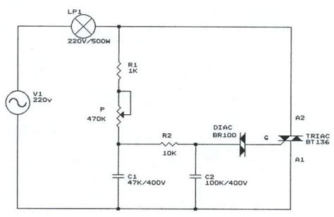 Light Dimmer With Triacs Using Instead