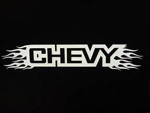 chevy letters with flames vehicle window decal sticker 4 With window decal letters