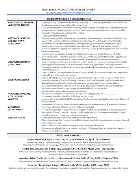 Corporate Attorney Resume by Corporate Associate Resume Essaysbank X Fc2