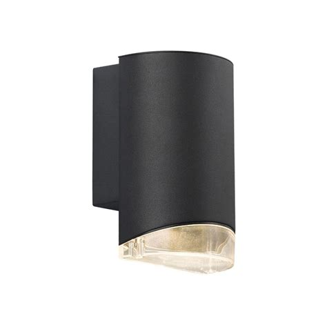 nordlux arn outdoor down wall light black