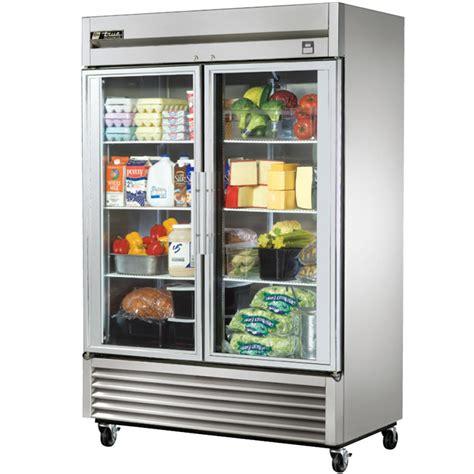 refrigerator with glass door true ts 49g 49 cu ft stainless steel 2 glass door