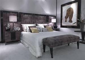 Bett Mit Gepolstertem Kopfteil : bett mit gepolstertem kopfteil aus leder mit einer lackierten rahmen idfdesign ~ Sanjose-hotels-ca.com Haus und Dekorationen
