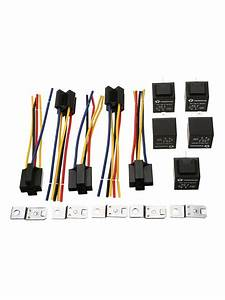 5pcs Relay Wire Harness Socket Spdt 5pin 12v 30  40amp