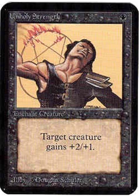magic  gathering alpha single unholy strength