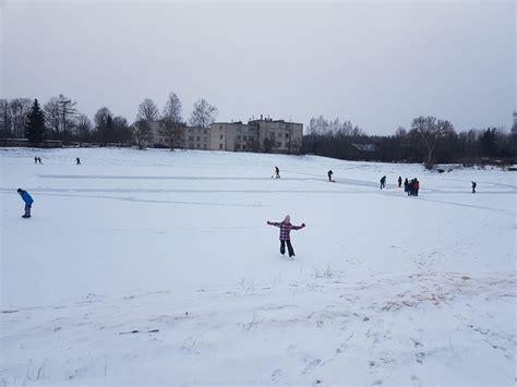 Stāķu dīķis ziemā - Stradu pagasta pārvalde