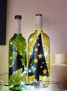 Diy, Wine, Bottle, Holiday, Decor