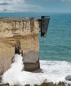 Concept house is pinned to the side of Australian cliff ...
