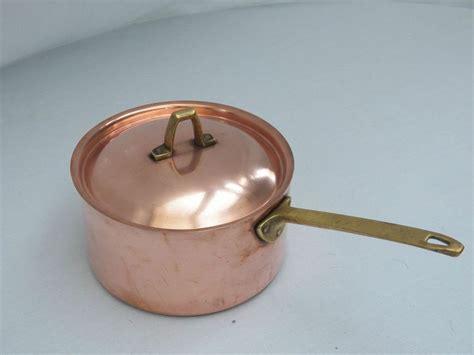 paul revere ware  quart copper suace pot lid limited edition signature cookware paulrevere