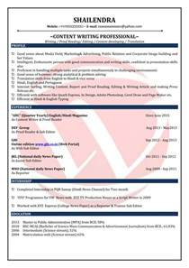 Content Writer Resume by Content Writer Sle Resumes Resume Format Templates