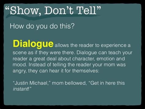 """""""show, Don't Tell"""""""