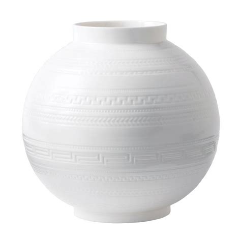 White Vase by Wedgwood Intaglio Giftware White Vase 25cm Wedgwood