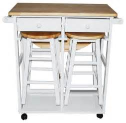 breakfast cart table with 2 stools white contemporary kitchen islands and kitchen carts