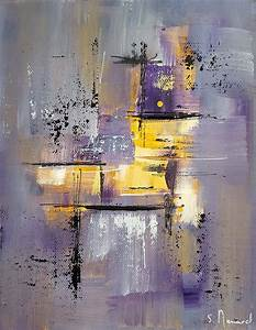 Peinture Blanc Gris : tableaux peinture moderne acrylique ~ Nature-et-papiers.com Idées de Décoration