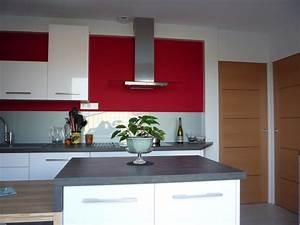 Deco Mur De Cuisine : charmant deco mur cuisine moderne 4 cuisine rouge avec ~ Zukunftsfamilie.com Idées de Décoration