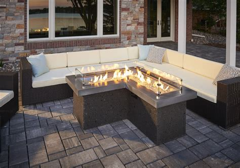 The Pointe Gas Fire Pit Table Pits & Fireplaces Patio