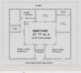 central courtyard house plans small house plans courtyard ranch houses house plans