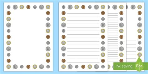 New British (uk) Coins Page Borders